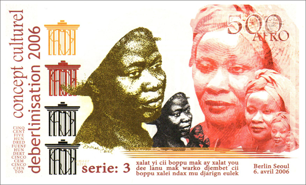 Le Laboratoire Déberlinisation, 500 Afro currency, Serie 3: Hawa Keita and Aminata Traoré