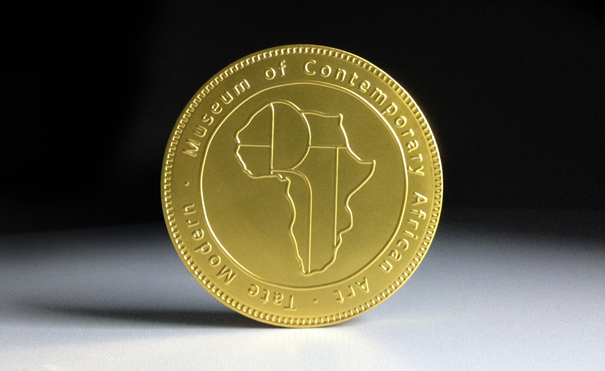 Meshac Gaba, Chocolate coin from Museum Shop, Museum of Contemporary African Art