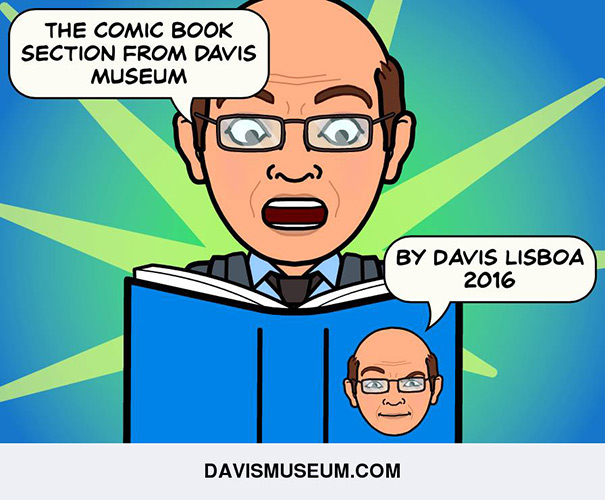 The Comic Book Section from Davis Museum by Davis Lisboa, 2016.